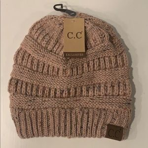 C.C Exclusives Pink Cableknit beanie 💕